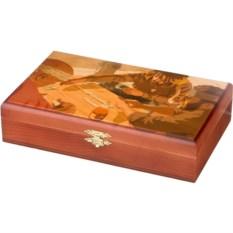 Домино в деревянной шкатулке Игра