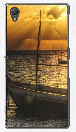 Чехол для Sony Xperia Z1 (пластик), рассвет над морем