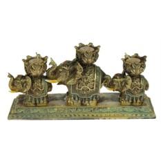 Подсвечник Три слона на 3 свечи со свечами