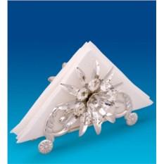 Посеребренная салфетница с кристаллами Подсолнух