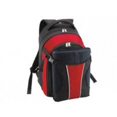 Рюкзак для пикника с набором посуды на 4 персоны и пледом