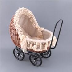 Плетеная ретро-коляска для кукол Leiteng Artwares