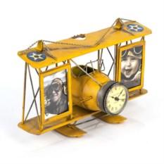 Две фоторамки с подставкой для ручек Часы-аэроплан