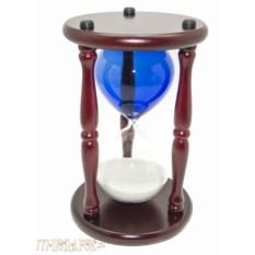 Песочные часы Бизнес (30 минут, синяя колба, белый песок)