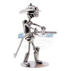 Статуэтка из металла Пожарный