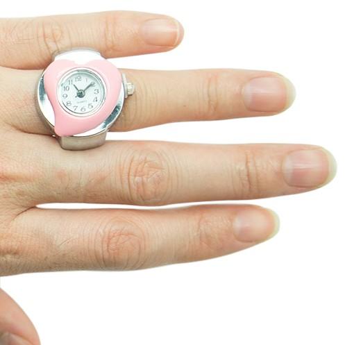 Розовые часы-кольцо Heart