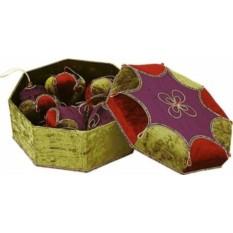 Набор Новогодних украшений в шкатулке