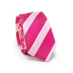 Узкий галстук (розовый полосатый)