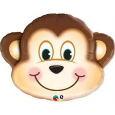 Фольгированный шарик Голова мартышки