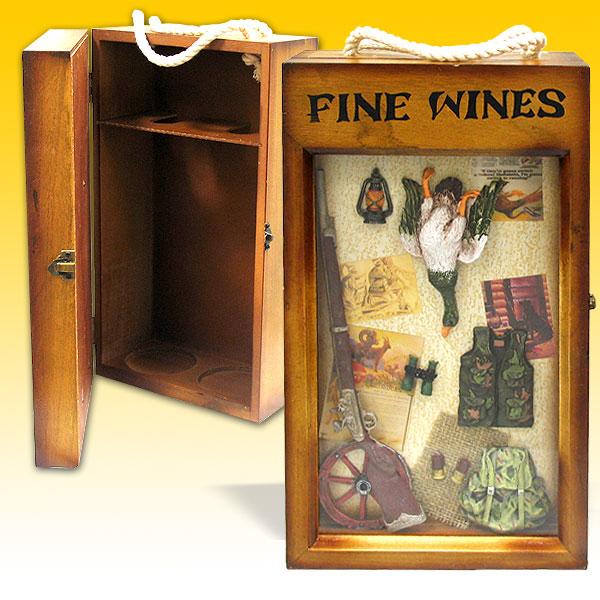 Декоративная коробка для вина «Охота»