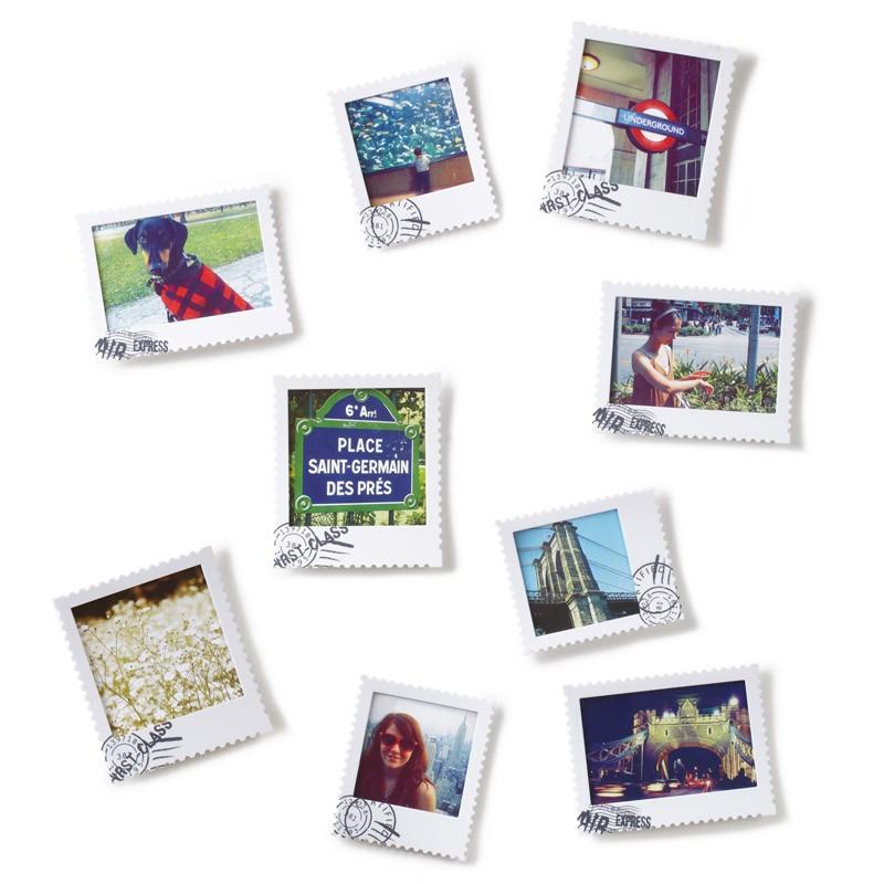 Набор из 9 белых фоторамок Postal