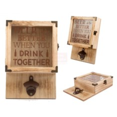 Копилка для пивных крышек с открывашкой Drink
