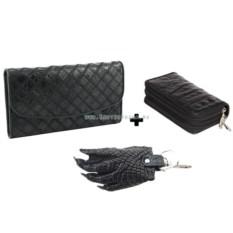 Женский кошелек, ключница и брелок Лапа из крокодила