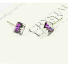 Серьги «Миражи» с фиолетовыми кристаллами Сваровски