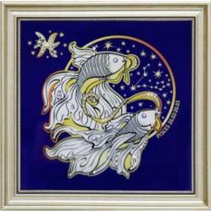 Картина с кристаллами Сваровски Звездные Рыбы