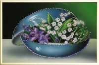 Картина Swarovski Ваза цветов