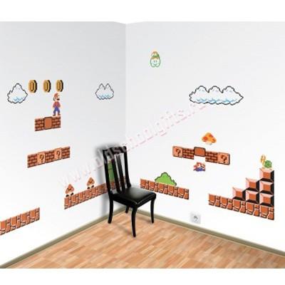 Виниловые наклейки на стену Марио 81
