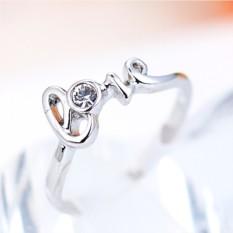 Кольцо с австрийскими кристаллами С любовью