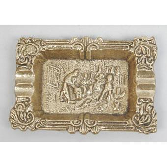 Пепельница прямоугольная из бронзы Virtus