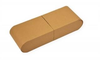 Подарочная упаковка из крафт-картона с закругленными торцами