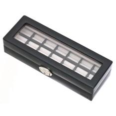 Черная плоская шкатулка для украшений Davidt's
